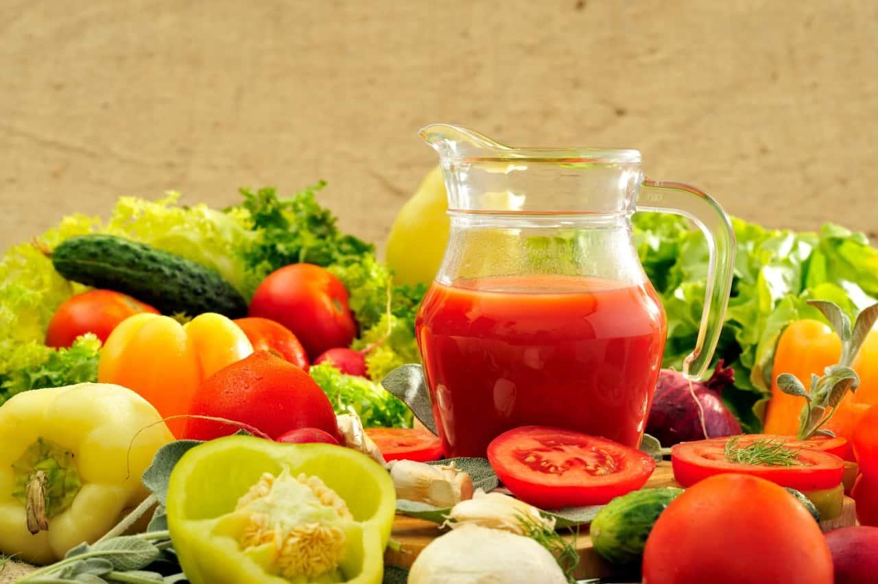 ירקות ומיצים בריאים